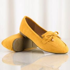 Anesia Paris Mokasyny Z Kokardą żółte 1