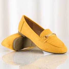 Anesia Paris Eleganckie Zamszowe Mokasyny żółte 1