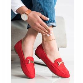 Anesia Paris Eleganckie Mokasyny czerwone 3