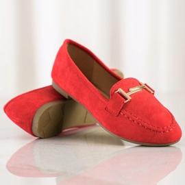 Anesia Paris Eleganckie Mokasyny czerwone 1