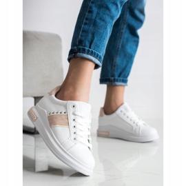 SHELOVET Casualowe Sneakersy białe 3