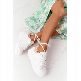 Sportowe Buty Sneakersy Na Platformie Biało-Złote Shine Bright białe złoty 2