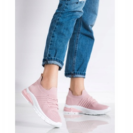 Bella Paris Ażurowe Sneakersy różowe 3