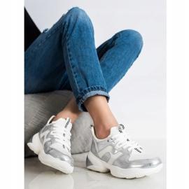 Weide Biało-srebrne Sneakersy białe srebrny 3