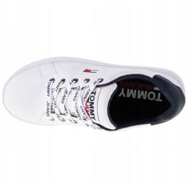 Buty Tommy Hilfiger Iconic Leather Flatform W EN0EN01113-YBR białe granatowe 2