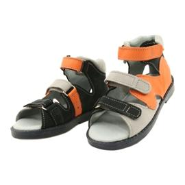 Sandałki wysokie profilaktyczne Mazurek 291 szary orange pomarańczowe szare 1