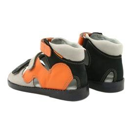 Sandałki wysokie profilaktyczne Mazurek 291 szary orange pomarańczowe szare 2