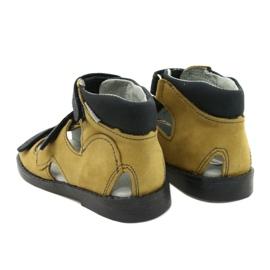 Sandałki wysokie profilaktyczne Mazurek 291 szary orange szare żółte 2