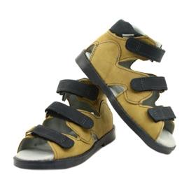 Sandałki wysokie profilaktyczne Mazurek 291 szary orange szare żółte 3