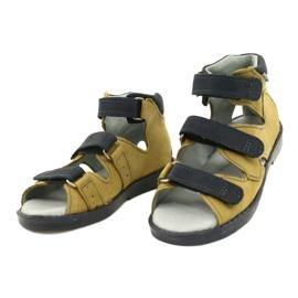 Sandałki wysokie profilaktyczne Mazurek 291 szary orange szare żółte 1