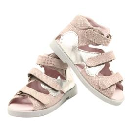 Sandałki wysokie profilaktyczne Mazurek 291 pink-silver różowe srebrny 3
