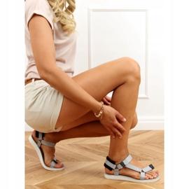 Sandałki sportowe na rzepy szare N-67 Grey 3