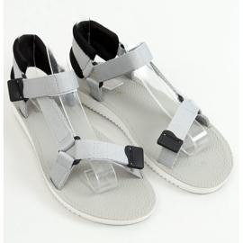 Sandałki sportowe na rzepy szare N-67 Grey 1