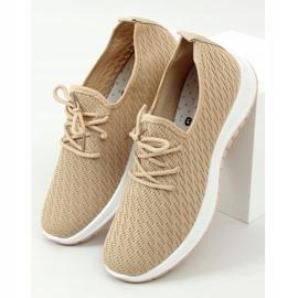 Buty sportowe beżowe G-323 Beige beżowy 1