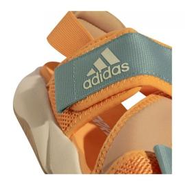 Sandały adidas Terrex Sumra W FX6049 niebieskie pomarańczowe 2
