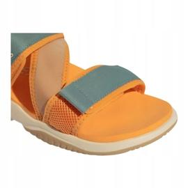 Sandały adidas Terrex Sumra W FX6049 niebieskie pomarańczowe 3