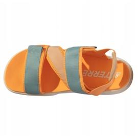 Sandały adidas Terrex Sumra W FX6049 niebieskie pomarańczowe 4
