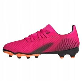 Buty piłkarskie adidas X Ghosted.3 Mg Jr FY1093 różowe grafitowy, różowy 1