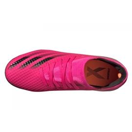 Buty piłkarskie adidas X Ghosted.3 Mg Jr FY1093 różowe grafitowy, różowy 3