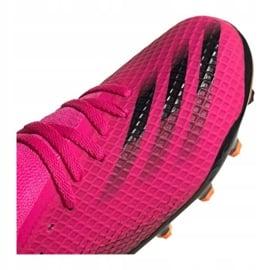 Buty piłkarskie adidas X Ghosted.3 Mg Jr FY1093 różowe grafitowy, różowy 4