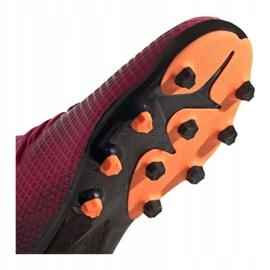 Buty piłkarskie adidas X Ghosted.3 Mg Jr FY1093 różowe grafitowy, różowy 5