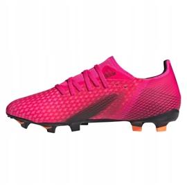 Buty piłkarskie adidas X Ghosted.3 Fg M FW6945 różowe grafitowy, różowy 1