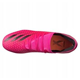 Buty piłkarskie adidas X Ghosted.3 Fg M FW6945 różowe grafitowy, różowy 3