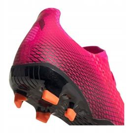 Buty piłkarskie adidas X Ghosted.3 Fg M FW6945 różowe grafitowy, różowy 5