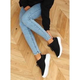Buty sportowe skarpetkowe czarne 7817 BLACK/WHITE 2