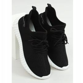 Buty sportowe skarpetkowe czarne 7817 BLACK/WHITE 1