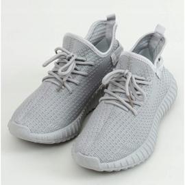 Buty sportowe skarpetkowe szare 7817 Grey 1