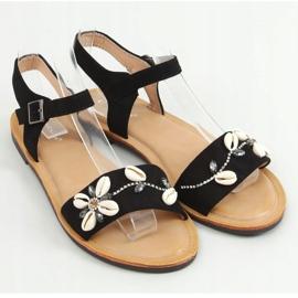Sandałki z muszelkami czarne M78 Black 1