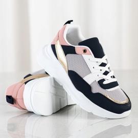 SHELOVET Stylowe Sneakersy Z Siateczką wielokolorowe 1