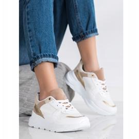 SHELOVET Stylowe Sneakersy Z Siateczką białe 1
