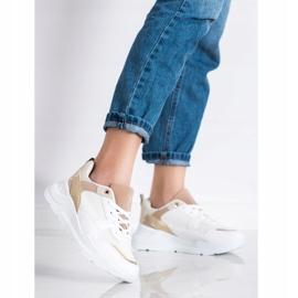 SHELOVET Stylowe Sneakersy Z Siateczką białe 3