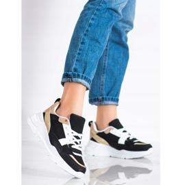 SHELOVET Stylowe Sneakersy Z Siateczką czarne 3