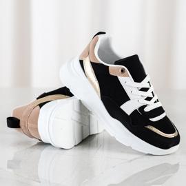 SHELOVET Stylowe Sneakersy Z Siateczką czarne 1