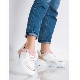 SHELOVET Stylowe Sneakersy Z Siateczką białe wielokolorowe 1