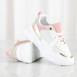 SHELOVET Stylowe Sneakersy Z Siateczką białe wielokolorowe 2