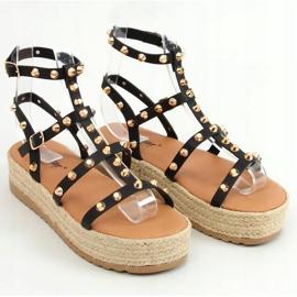 Sandałki espadryle z ćwiekami czarne ME01 Black 1