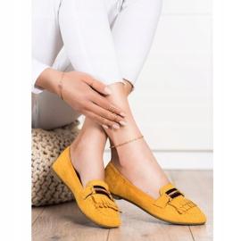 Anesia Paris Stylowe Mokasyny żółte 3