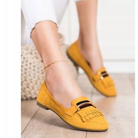 Anesia Paris Stylowe Mokasyny żółte 2