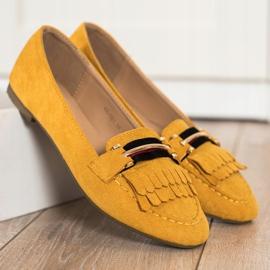 Anesia Paris Stylowe Mokasyny żółte 1
