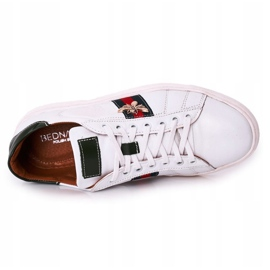 Bednarek Polish Shoes Męskie Skórzane Półbuty Tenisówki Bednarek Białe 1