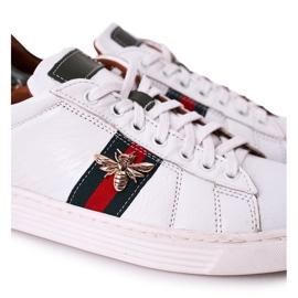 Bednarek Polish Shoes Męskie Skórzane Półbuty Tenisówki Bednarek Białe 3