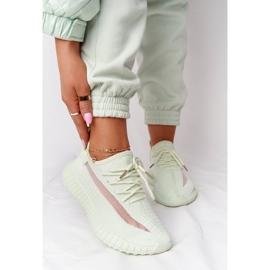 PS1 Damskie Sportowe Buty Sneakersy Jasnozielone Amazing 3