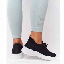 PS1 Damskie Sportowe Buty Sneakersy Czarne Ruler białe 6