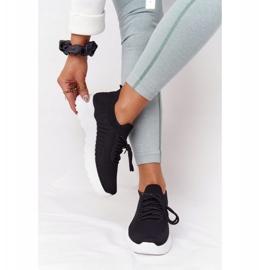 PS1 Damskie Sportowe Buty Sneakersy Czarne Ruler białe 2
