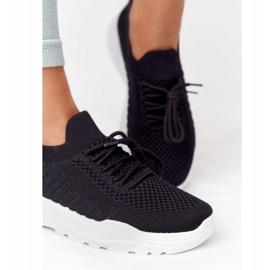 PS1 Damskie Sportowe Buty Sneakersy Czarne Ruler białe 1