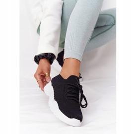 PS1 Damskie Sportowe Buty Sneakersy Czarne Ruler białe 3